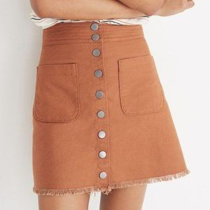 Madewell High-Waist Snap Skirt 0